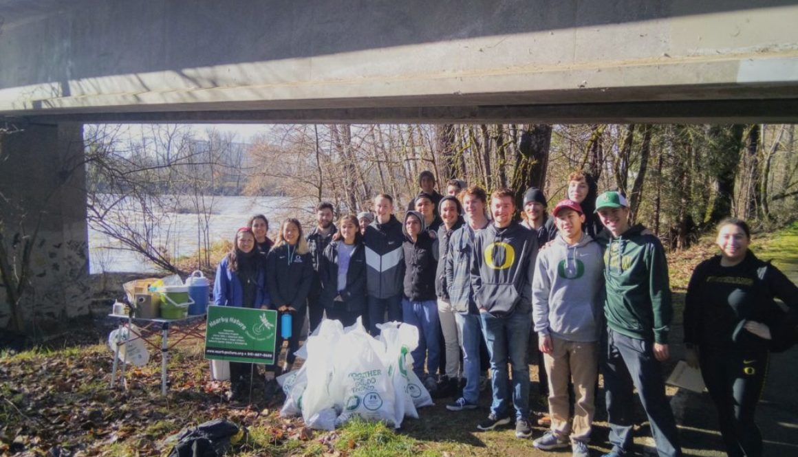MLK Day of Service at Frohnmayer Footbridge